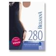 BELSANA 280den Glamour Schenkelstrumpf Größe medium Farbe nachtblau normal Plusweite