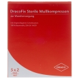DracoFix Mullkompressen steril 8fach 7,5x7,5cm
