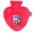 fashy Wärmflasche Herzform mit Fotorahmen