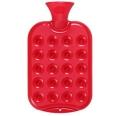 fashy Wärmflasche in Kissen-Design Kirschrot