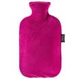 fashy Wärmflasche mit Nicki-Velour Bezug Fuchsia