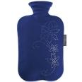 fashy Wärmflasche mit Strass-Steinen Dunkelblau