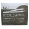 FRANK® Einmalpinzette aus Kunststoff steril 12,5 cm im Spenderkarton
