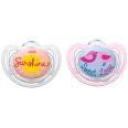 NUK® Freestyle Schnuller rosa/hellblau (18-36 Monate)
