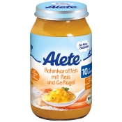 Alete® Rahmkarotten mit Reis & Geflügel