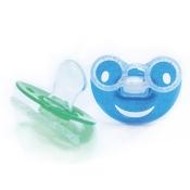 Baby-Frank® Beruhigungssauger Kieferorthopädisch Latex 0-6 Monate blau