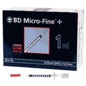 BD Micro-Fine™+ U 100 Insulinspritzen 12,7 mm