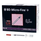 BD Micro-Fine™+ U 100 Insulinspritzen 8 mm
