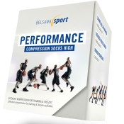 BELSANA Sport Performance Compression Socks High Cut Gr. 3 (42-44) weiß