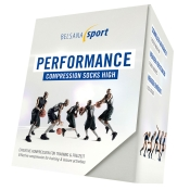 Belsana sport performance compression socks high Schwarz Größe 39-41