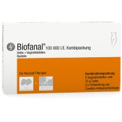 Biofanal® Kombipackung 25g Salbe + 6 Vaginaltabletten
