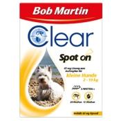 Bob Martin® Clear Spot on 268 mg Lösung für kleine Hunde 2-10 kg