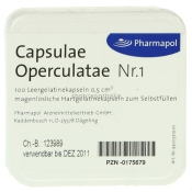 Capsulae Operculatae Kapseln Nr. 1 0,5
