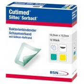 Cutimed® Siltec® Sorbact®, 12,5cm x 12,5cm