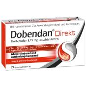 Dobendan® Direkt Flurbiprofen 8,75 mg + SAGROTAN® Desinfektionstücher GRATIS