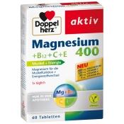 Doppelherz Magnesium 400 + B12 + C + E