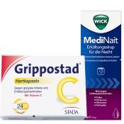 Erkältungsset WICK MediNait + Grippostad® C