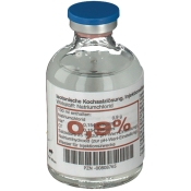 Isotonische Kochsalzlösung 0,9% Glasflasche