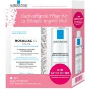 LA ROCHE-POSAY Rosaliac UV Riche + 50 ml Reinigungsfluid mit Mizellen-Technologie GRATIS