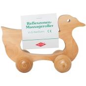 Massageroller aus Holz mit Bügel und 4 Rollen - Entenform