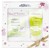 medipharma cosmetics Olivenöl Intensivcreme + Fitness-Dusche Geschenkset