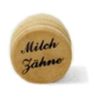 Milchzahndose Holz natur 2,5 cm