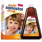 Multi Sanostol Sirup ohne Zucker + 3 Drachenschmatz Bonbons GRATIS