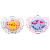 NUK® Freestyle Schnuller rosa/hellblau (6-18 Monate)
