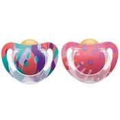 NUK® Genius Color Schnuller violett/altrosa (6-18 Monate)