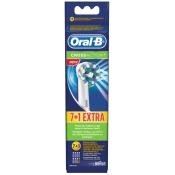 Oral-B® CrossAction® Ersatz-Aufsteckbürsten 7er+1