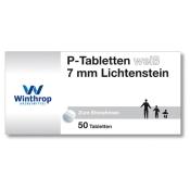P-Tabletten weiß 7 mm Lichtenstein
