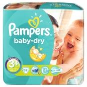 Pampers® baby-dry Gr.3+ Midi Plus 5-10kg Sparpack