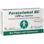 Paracetamol BC 125 mg Zäpfchen