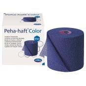 Peha-haft® Color latexfrei Fixierbinde blau 6 cm x 20 m