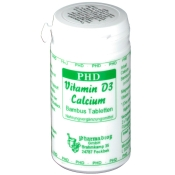 PHD Vitamin D3 Calcium Bambus Tabletten