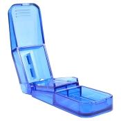 Tablettenteiler Pill Splitter blau-transparent