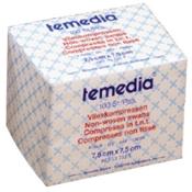 temedia® Vlieskompressen 4-fach 7,5 x 7,5 cm unsteril