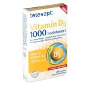 tetesept® Vitamin D3 1000 hochdosiert