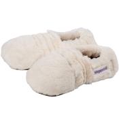Warmies® Slippies Deluxe creme Plush beige Gr. M (36-40)