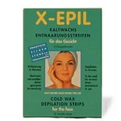 X Epil Kaltwachs Streifen f.d.Gesicht