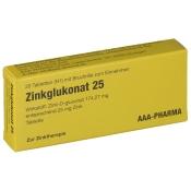 Zinkglukonat 25 mg