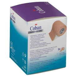 3M Coban Stütz- und Fixierverband 7,5 cm x 4,5 m hautfarben