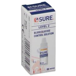 4SURE Blutzuckerkontrolllösung Stufe 2