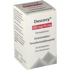 DESCOVY 200 mg/10 mg Filmtabletten