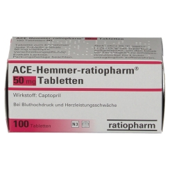 Ace Hemmer ratiopharm 50 Tabletten