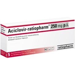 Aciclovir ratiopharm 250 p.i. Tr.Subst.o.Lsg.M.