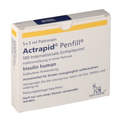 ACTRAPID Penfill 100 I.E./ml