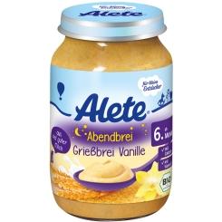 Alete® Abendbrei Grießbrei Vanille