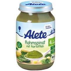 Alete® Rahmspinat mit Kartoffeln