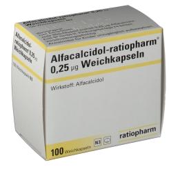 Alfacalcidol Ratiopharm 0,25 µg Kapseln